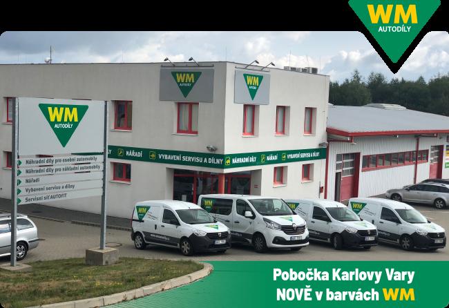 Vizuální přeměna poboček WM Autodíly Karlovy Vary