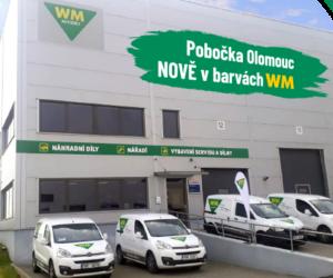 WM Autodíly Olomouc – další pobočka v nových barvách
