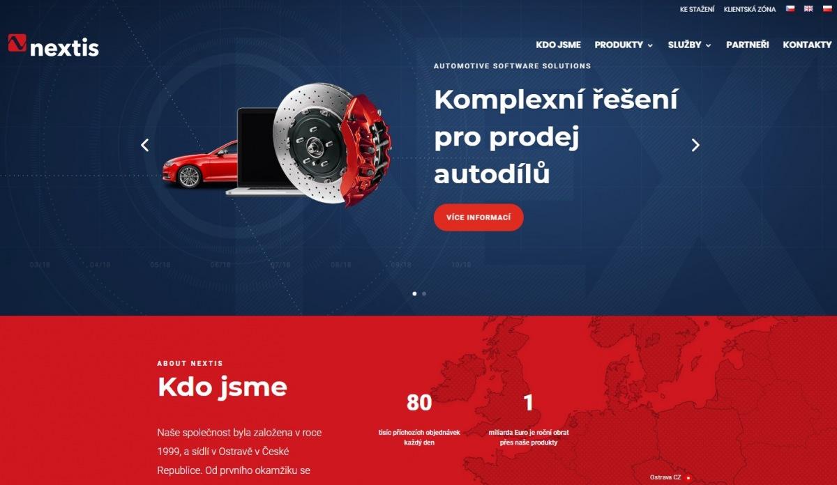 Nový web Nextis