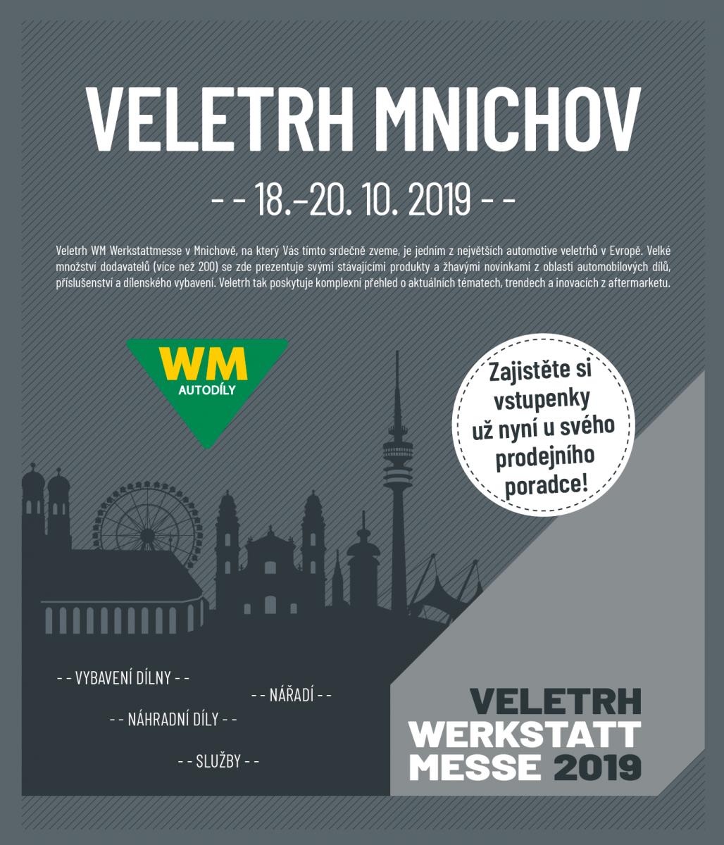 Bude se konat Veletrh WM Werkstattmesse v Mnichově