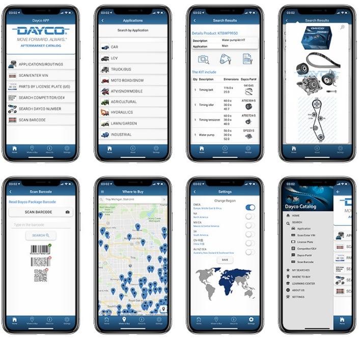 Aplikace Dayco - katalog