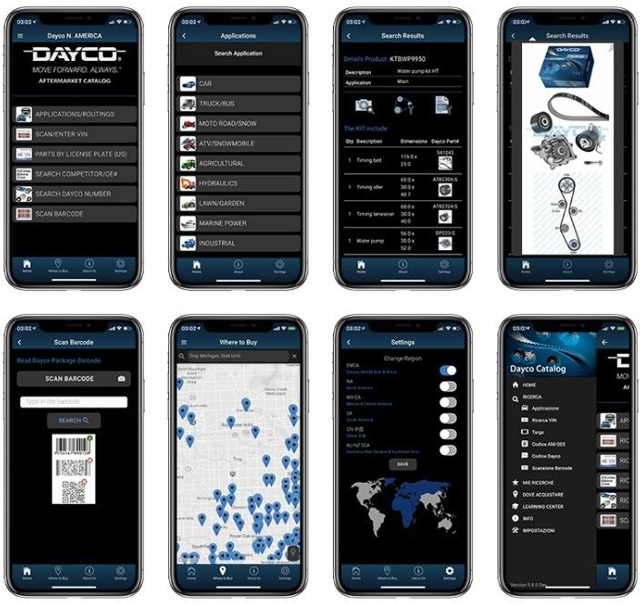 Dayco mobilní aplikace