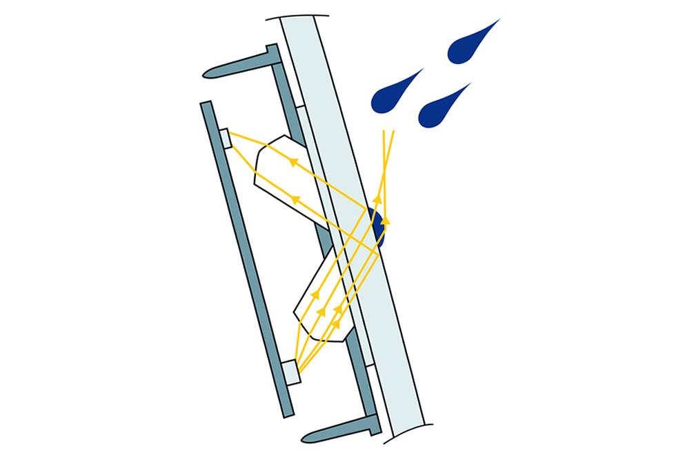 Schéma dešťového senzoru Hella