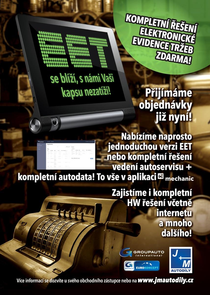Kompletní elektronické evidence tržeb u J+M autodíly zdarma