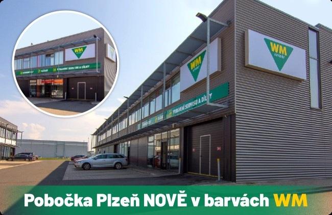 Pobočka Plzeň nově v barvách WM autodíly