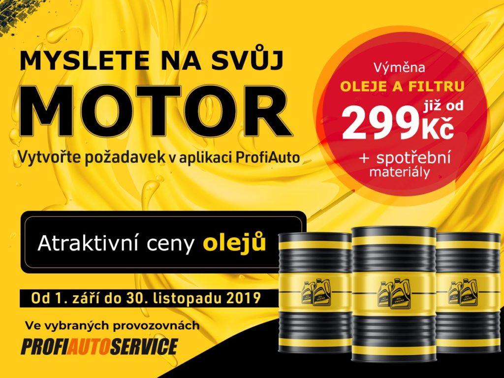 Akce na výměnu oleje a filtru u ProfiAuto