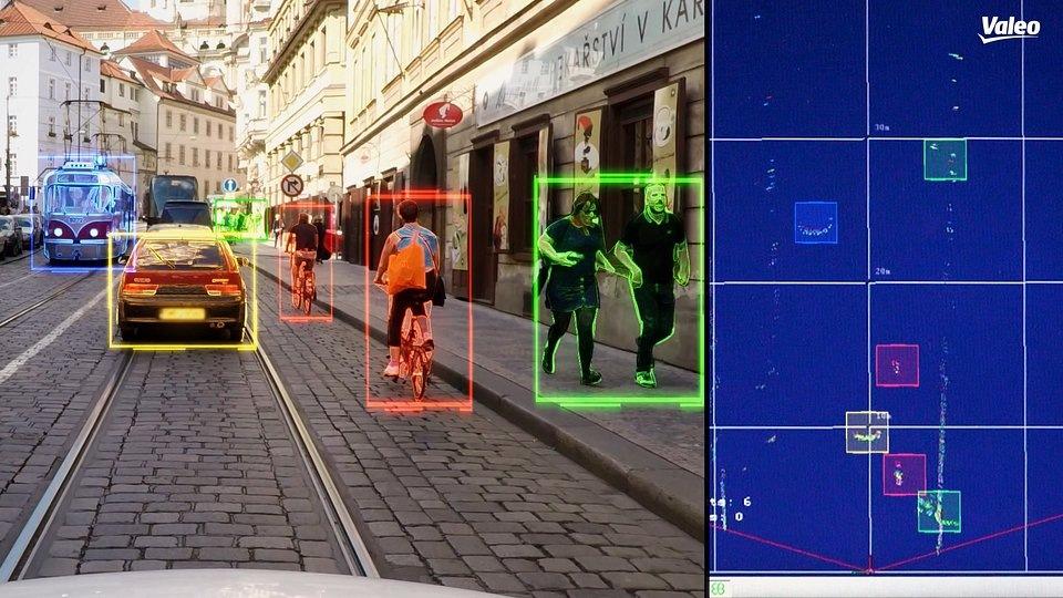 laserový skener Valeo SCALA® výstup