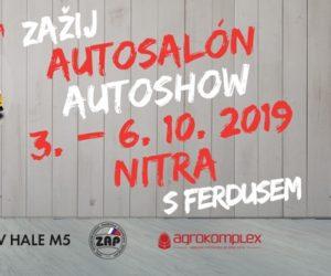 Firma Ferdus opět vyráží na Autosalon Autoshow Nitra 2019 a vy můžete zdarma taky