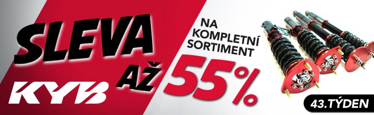 Až 55% slevy na sortiment KYB u J+M autodíly