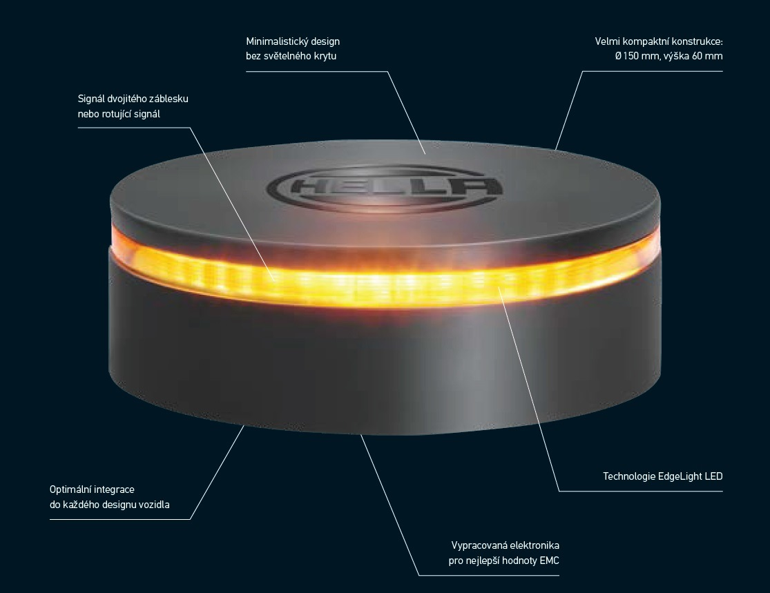 HELLA odhaluje: Další generace výstražných majáků - K-LED REBELUTION
