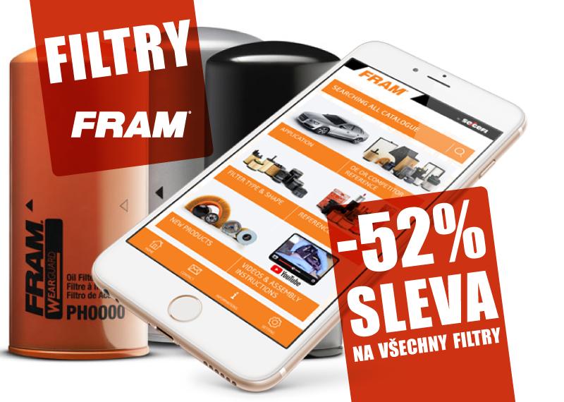 Sleva na všechny filtry FRAM 52% u AD Partner