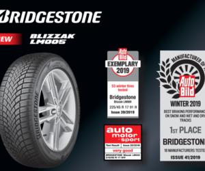 Pneumatika Bridgestone Blizzak LM005 dosáhla vynikajících výsledků v testech zimních pneumatik v německých motoristických časopisech