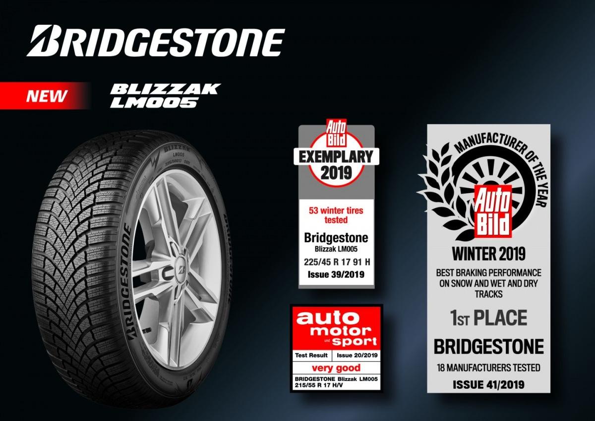 Ocenění pneumatiky Bridgestone Blizzak LM005