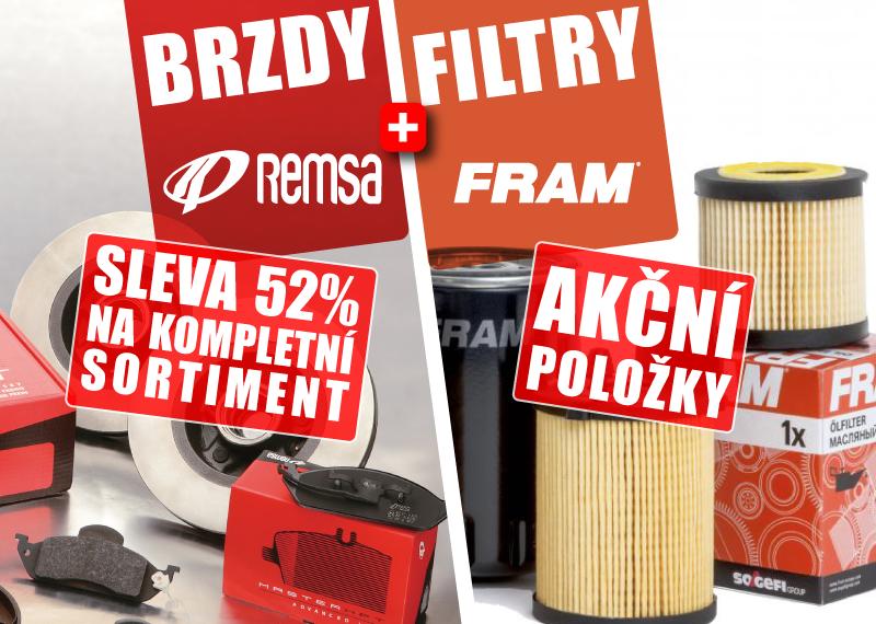 Akční ceny na sortiment značek Remsa a Fram u AD Partner
