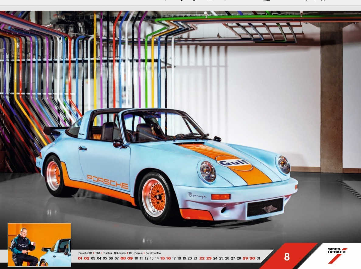 Porsche 911 v kalendáři Masterpieces 2020