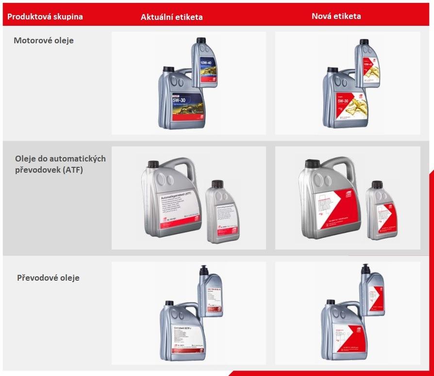 Nové etikety olejů febi