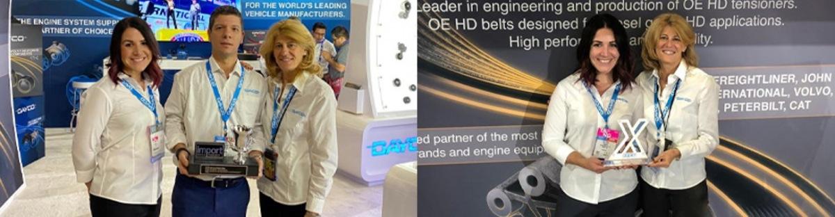 Firma Dayco získala dvě ocenění na veletrhu AAPEX
