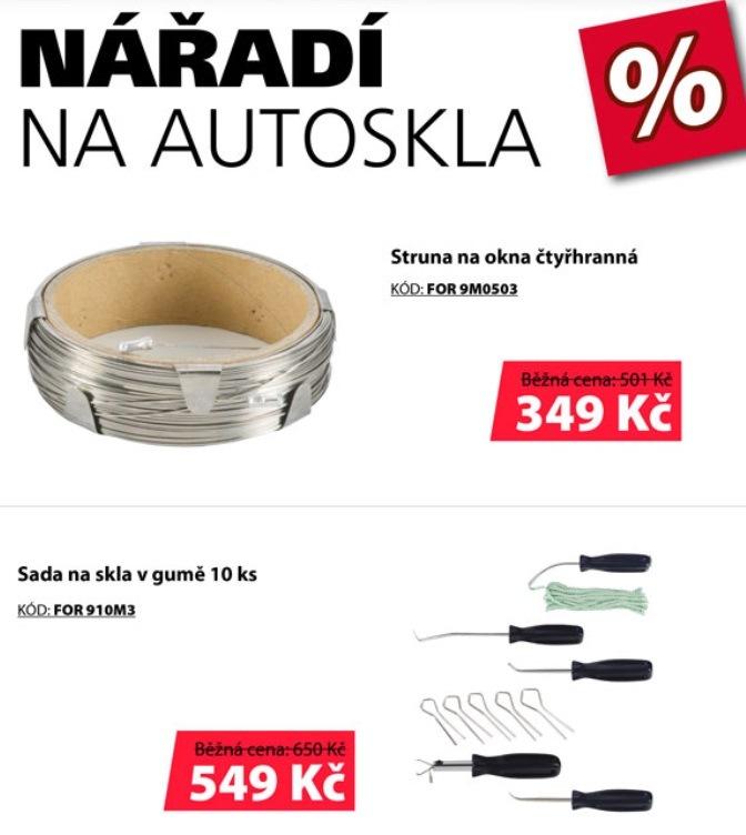Akční ceny na nářadí na autoskla u ELITu