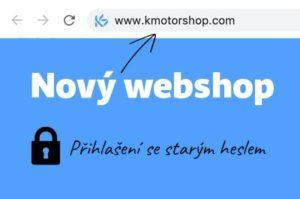 Nový webshop K MOTORSHOP
