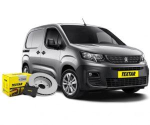 Brzdové destičky a kotouče Textar pro nový Peugeot Partner