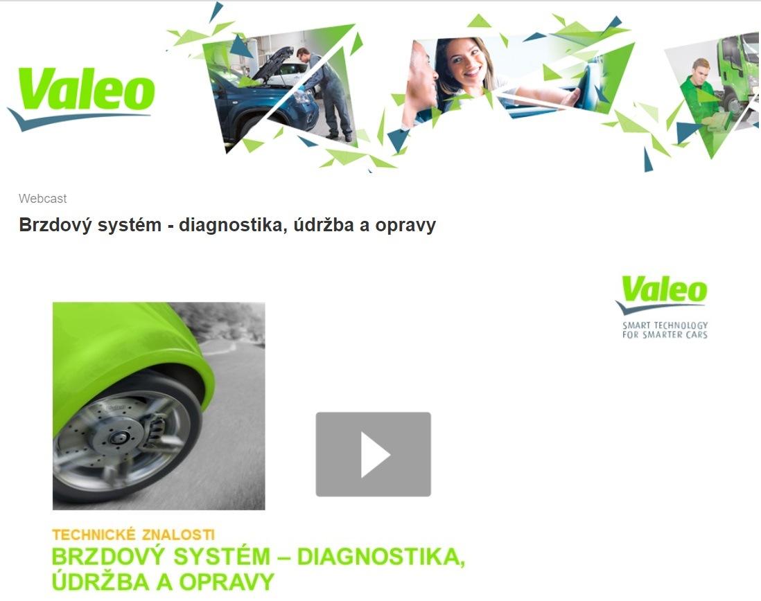 Nový webinář Valeo: Brzdový systém - diagnostika, údržba a opravy