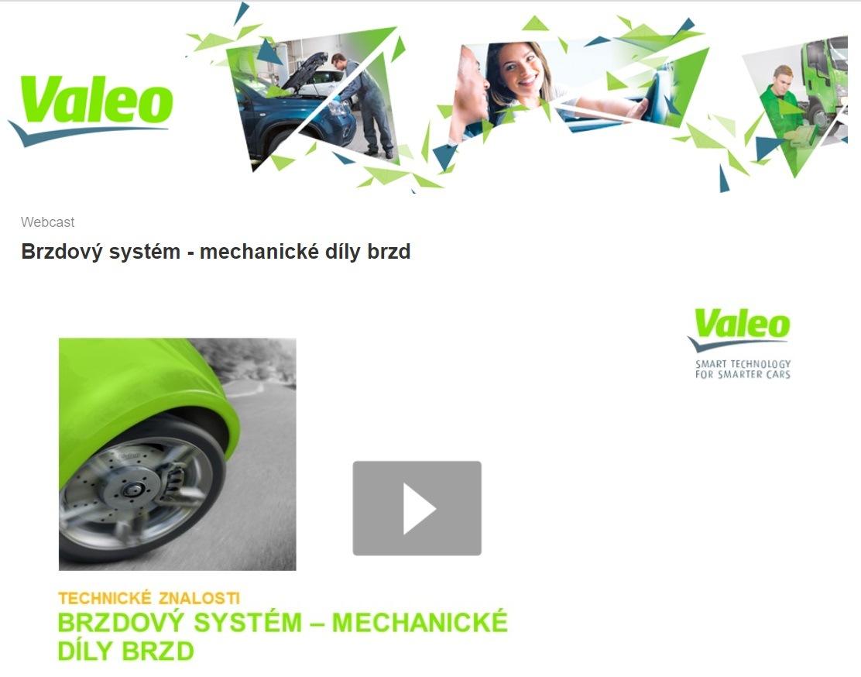 Nový webinář Valeo: Brzdový systém - mechanické díly brzd