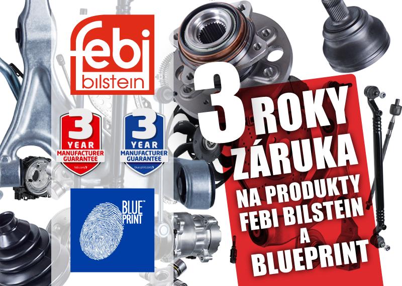 AD Partner poskytuje 3letou záruku na produkty FEBI a Blue Print