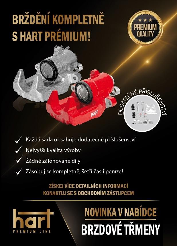 Novinka - brzdové třmeny Hart Premium