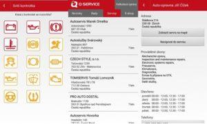 Mobilní aplikace Q-service