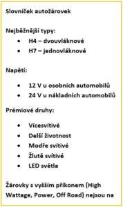 Slovníček autožárovek