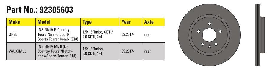 Textar Opel/Vauxall Insignia
