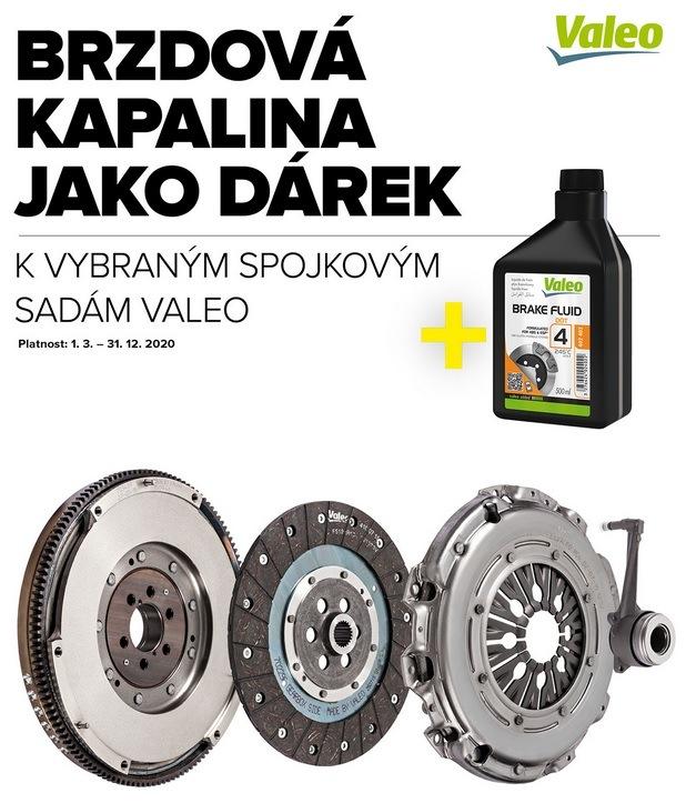 Brzdová kapalina jako dárek k vybraným spojkovým sadám Valeo u Auto Kelly