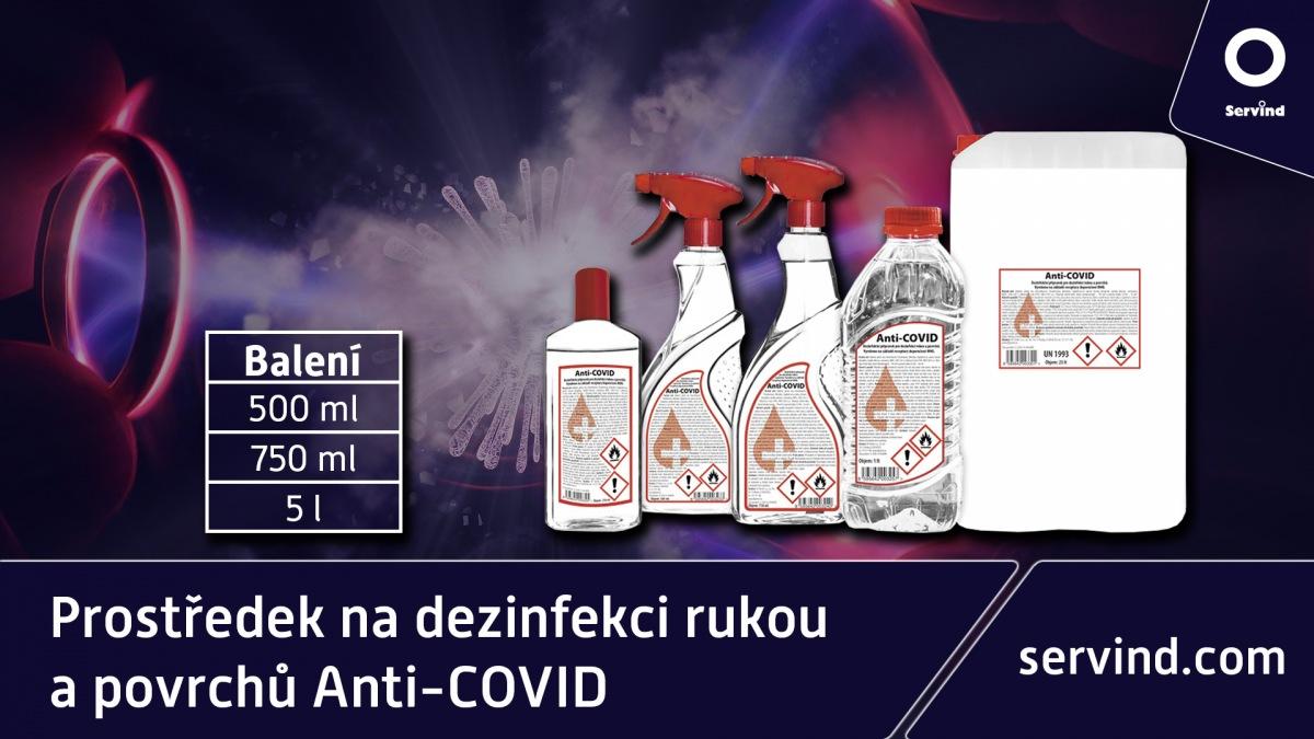 Anti-COVID v nabídce Servind