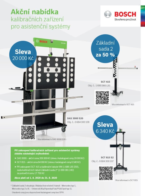 Bosch: Akční nabídka kalibračních zařízení pro asistenční systémy