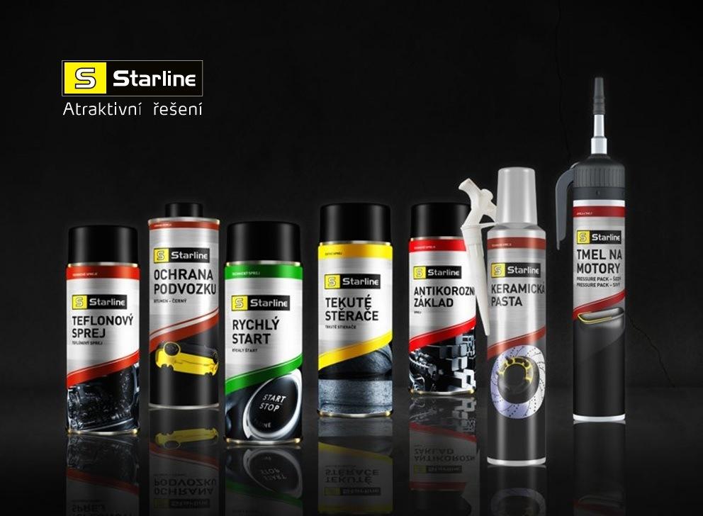 Novinky v řadě autochemie a kosmetiky Starline u Auto Kelly