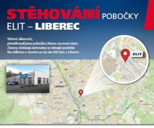 ELIT přestěhoval pobočku v Liberci na novou adresu