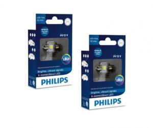 LED retrofity Philips v interiéru vozidla