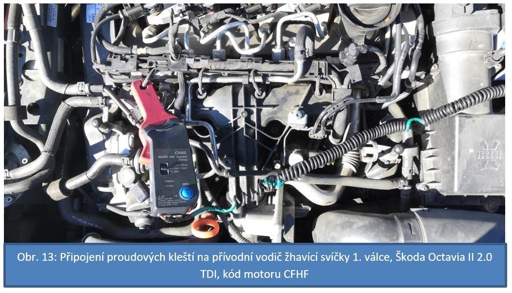měření na voze Škoda Octavia II 2.0 TDI