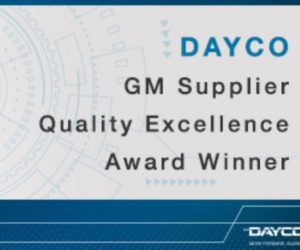 "Dayco získalo ocenění ""Supplier quality excellence award"" od General Motors"