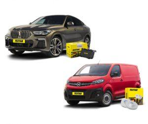Brzdové destičky a kotouče Textar pro BMW X6 a Opel Vivaro