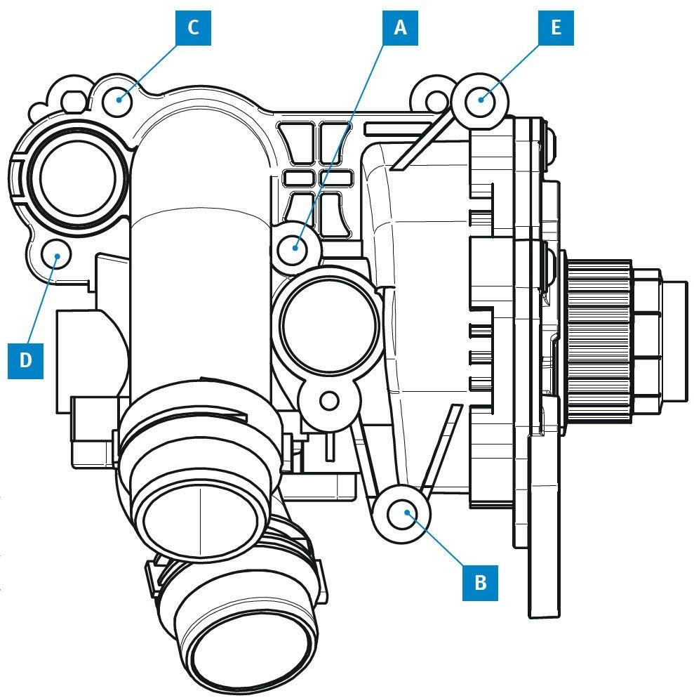 Postup dotahování vodní pumpy