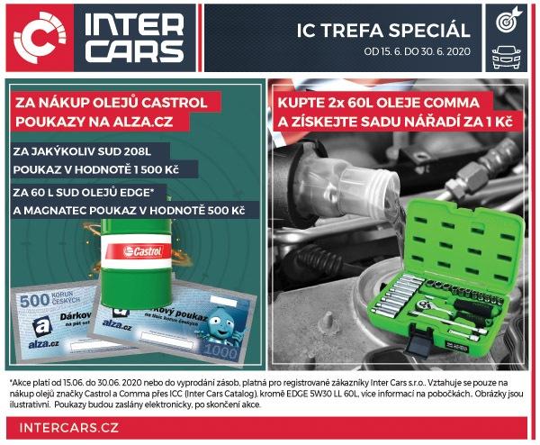 Odměny za nákup olejů u Inter Cars