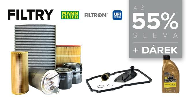 LKQ CZ (Auto Kelly): Filtry s 55% slevou a dárek