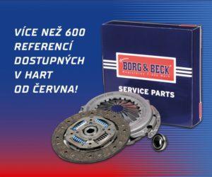 Nově u firmy HART spojky a části spojek Borg&Beck