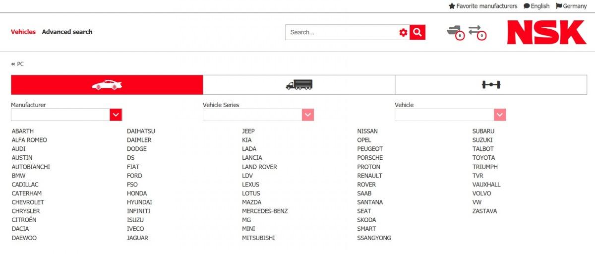 NSK online katalog