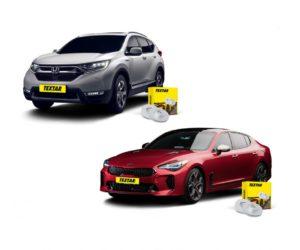 Brzdové kotouče Textar pro vozy Honda CR-V a Kia Stinger
