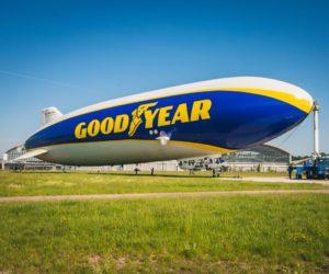 Vzducholoď Goodyear se vrací nad Evropu