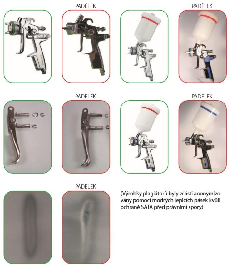 Originál vs padělek pistole SATA