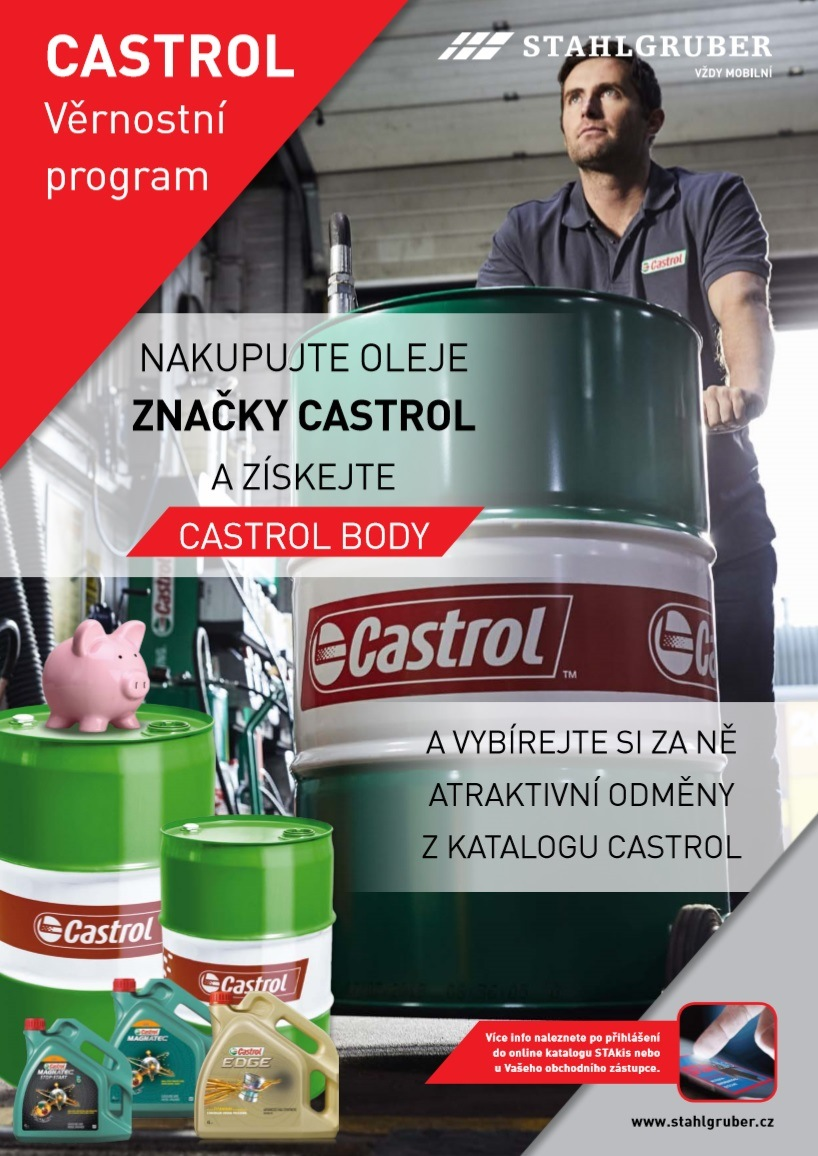 STAHLGRUBER: Nakupujte oleje Castrol a získejte Castrol body