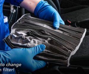 Výměna kabinového filtru u vozu Opel Adam